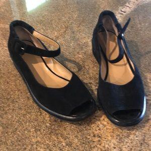 Black suede varda shoes